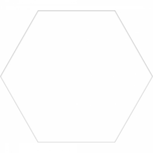 Basic Hex 25 White Matt R9