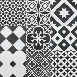 Ciment Mix 20x20 Black & White Matt