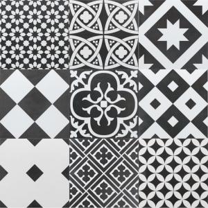 Ciment Mix 20x20 Black & White Matt