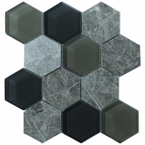Hex Mosaic 23.1x26.7 Grey Matt