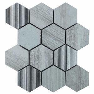 Hex Mosaic Texture 23.1x26.7 White Matt