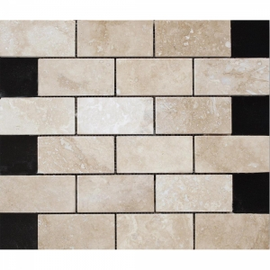 Travertine White Brick 30.5x30.5 White