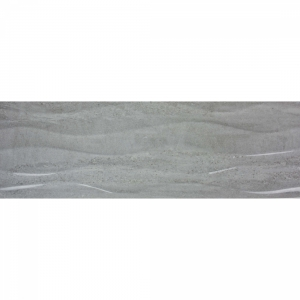 Darwin Waves 20x60 Grey Gloss