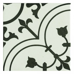 Kensington Quilt 20x20 Black & White Matt R9