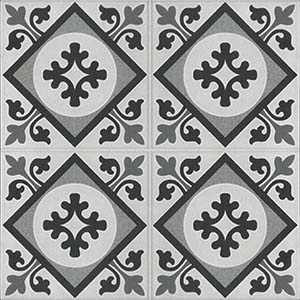 Milton Pattern 45x45 Grey Matt