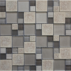 Leaf Square Glass 30x30 Grey