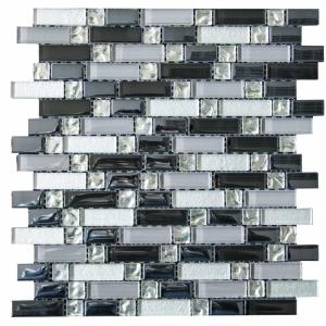 Silver and Black Random 30x30 Silver