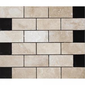 Travertine White Brick 30.5x30.5 White