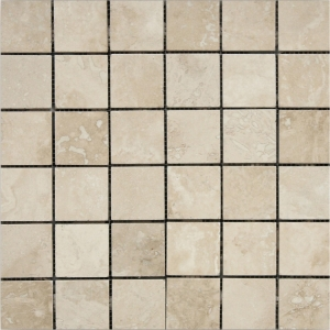 Travertine White Square 30.5x30.5 White Polished