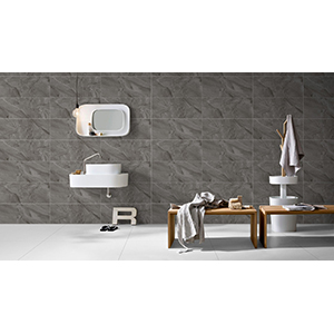 Travertino 25x60 Dark Grey Gloss 2