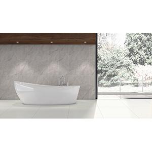 Travertino 25x60 Light Grey Gloss 2