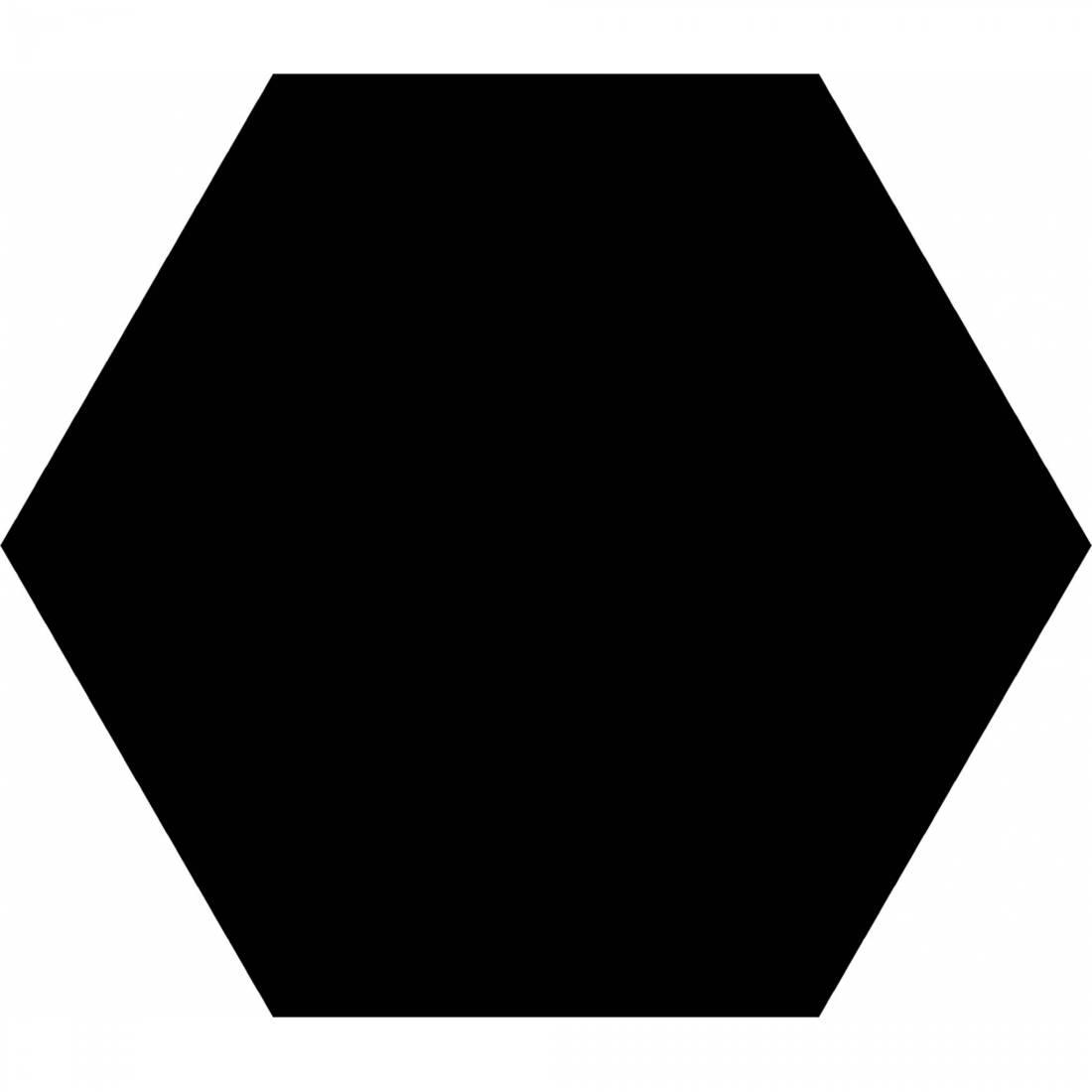 Basic Hex 25 Black Matt 1