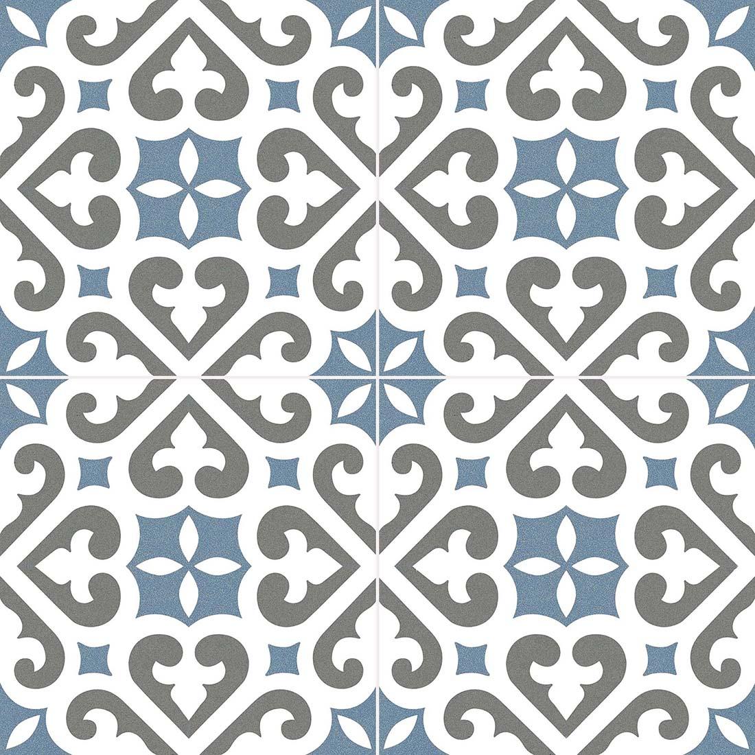 Stanmore Pattern 45x45 Blue Matt 1