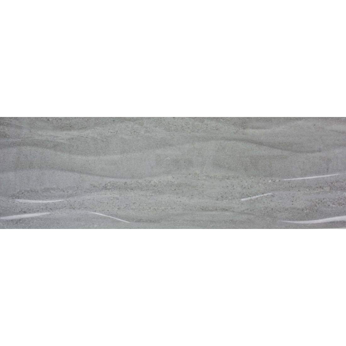 Darwin Waves 20x60 Grey Gloss 1