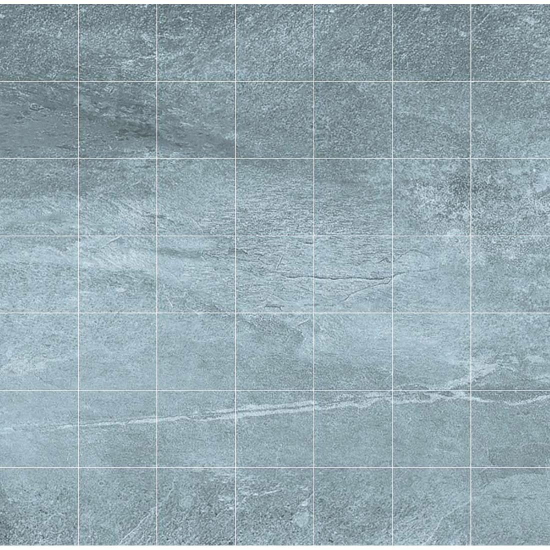 Delta Mosaic 33x33 Dark Grey Matt 1
