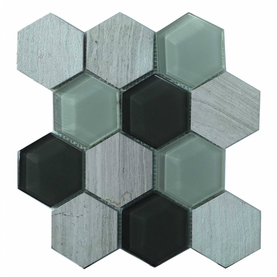 Hex Mosaic 23.1x26.7 White Matt 1