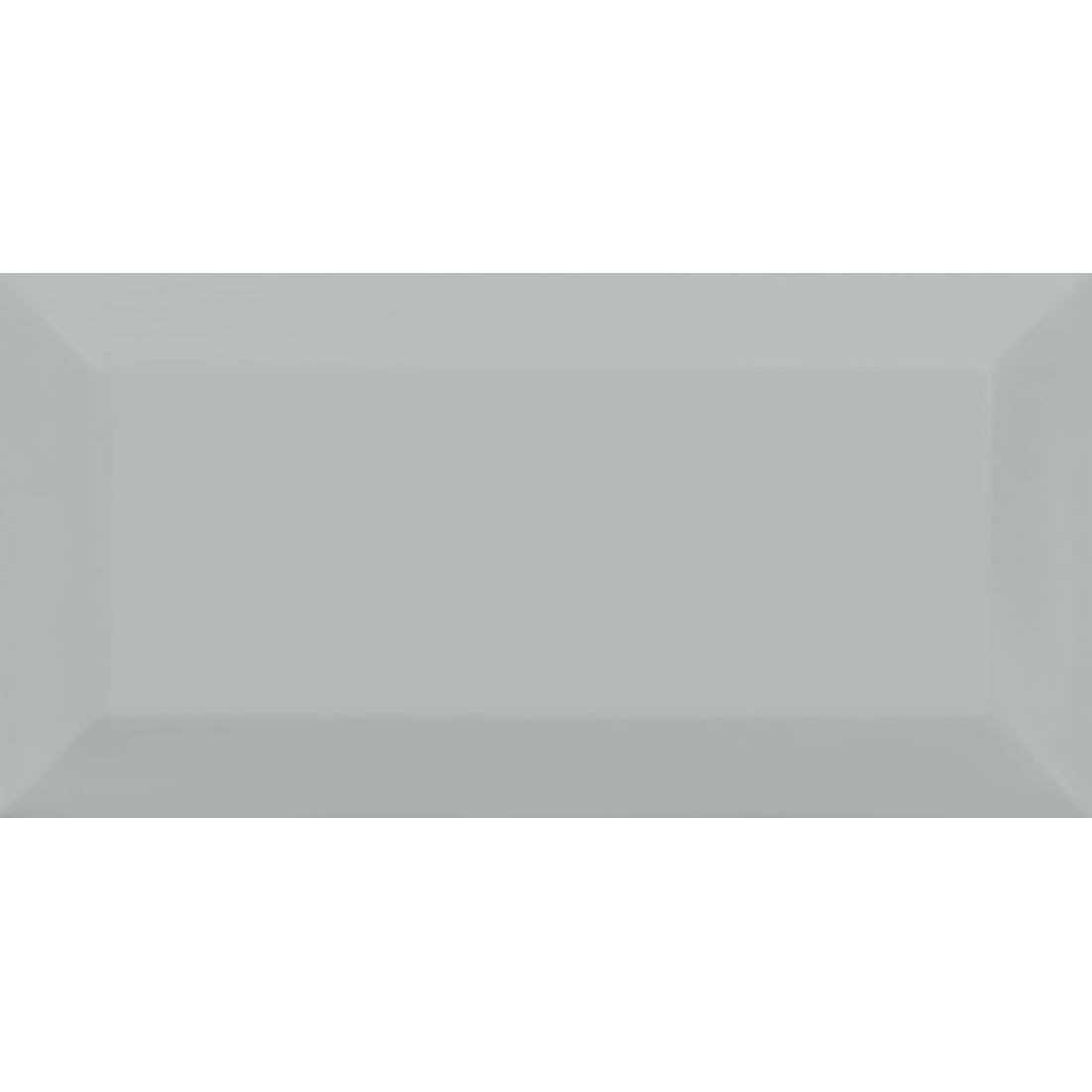 Metro 10x20 Light Grey Gloss Bevelled 1