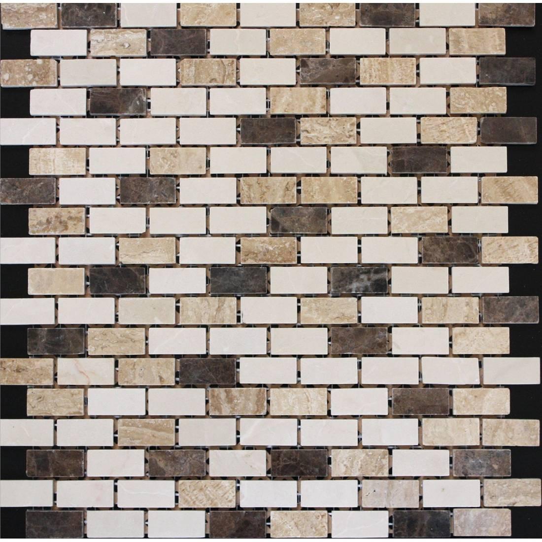 Emperador Brick 30.5x30.5 Beige 1