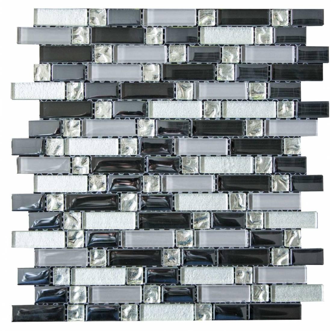 Silver and Black Random 30x30 Silver 1