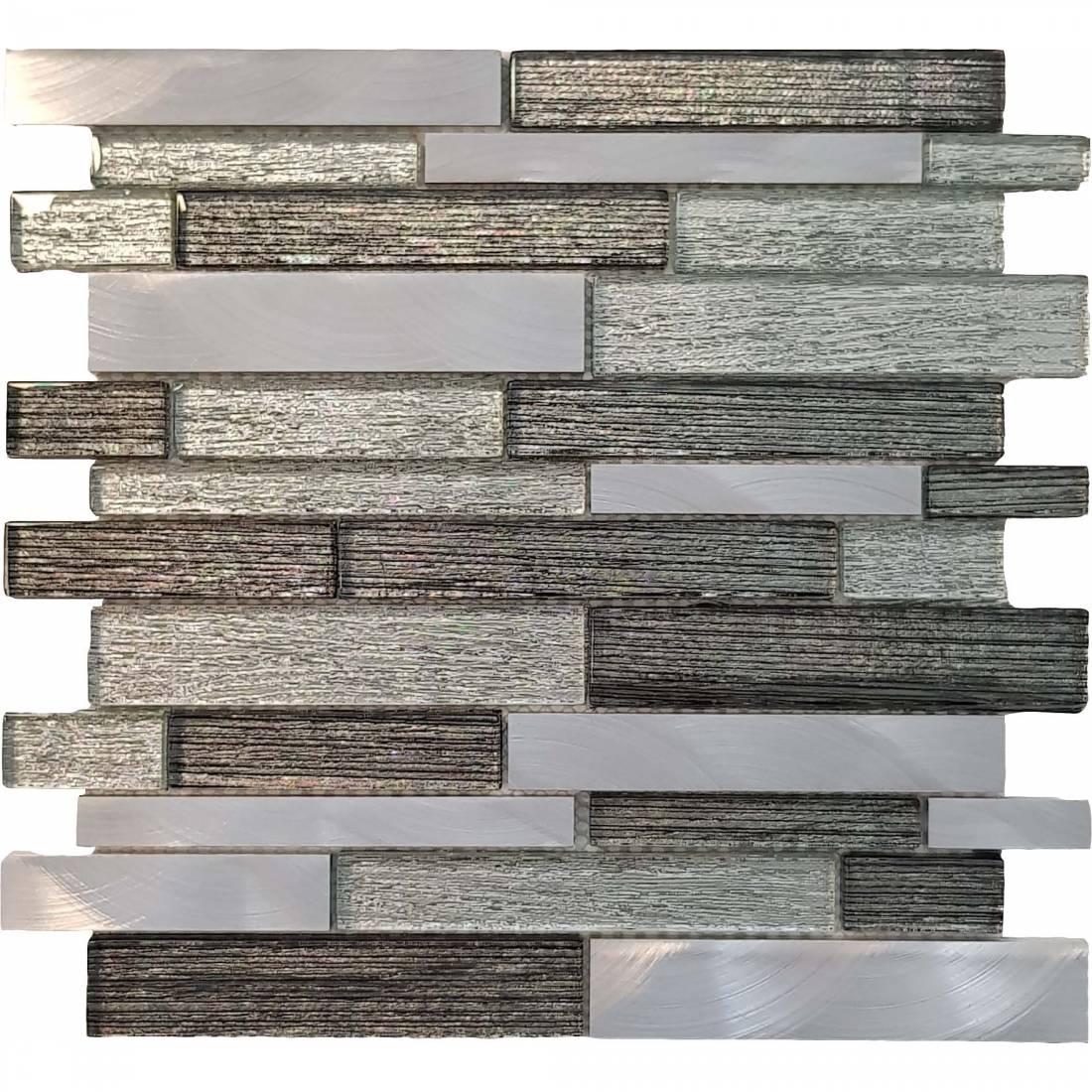 Stratos Glass 30x30 Silver 1