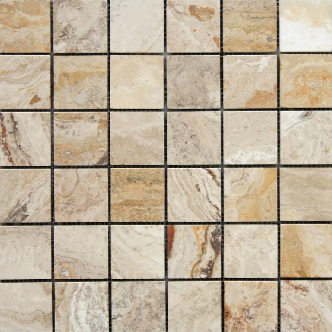 Travertine Leonardo Square 30.5x30.5 Beige Polished 1