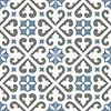 Bristol Pattern 45x45 Blue Matt