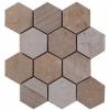 Hex Mosaic Texture 23.1x26.7 Beige Matt