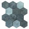 Hex Mosaic Texture 23.1x26.7 Grey Matt